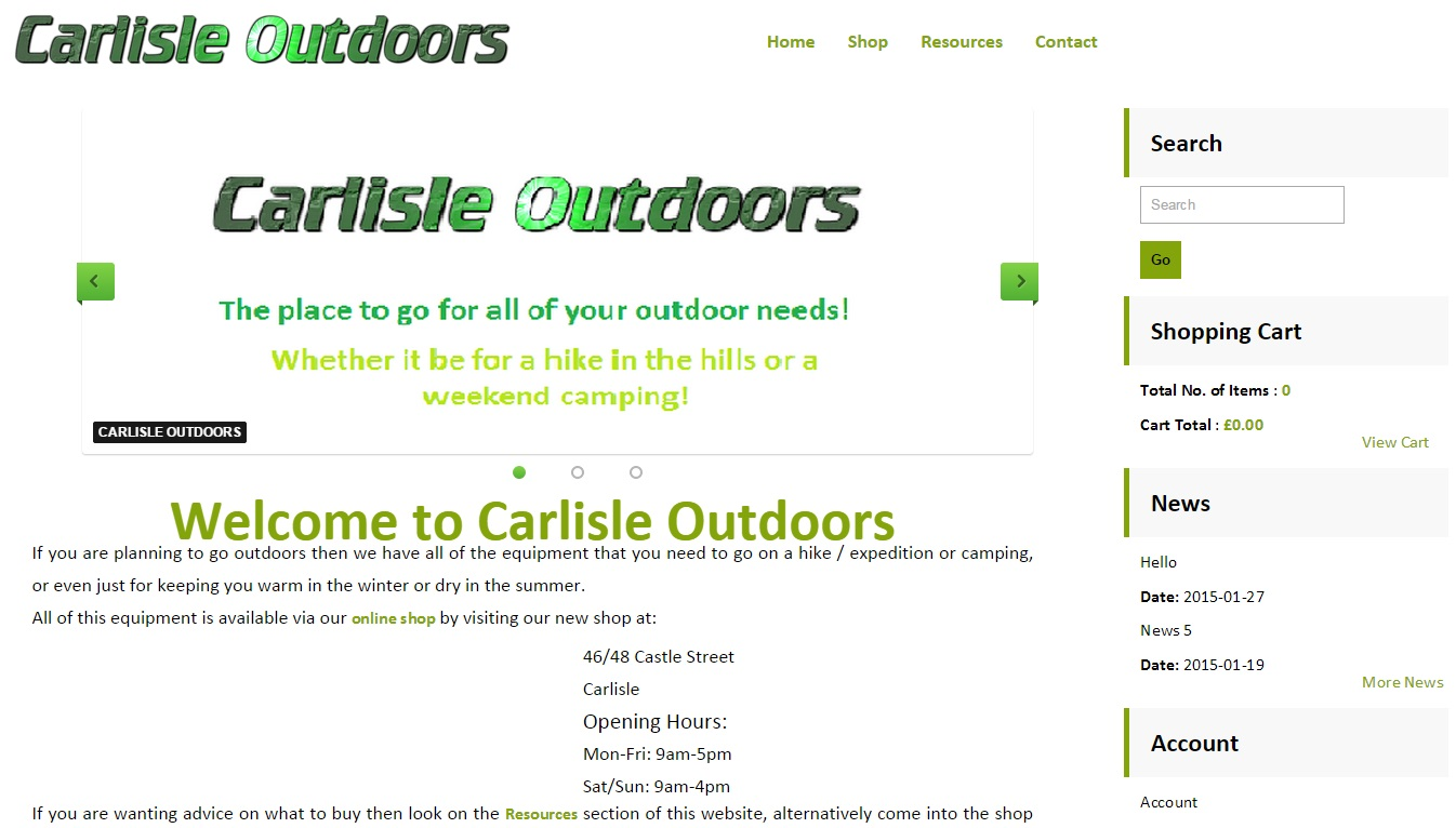 Carlisle outdoors